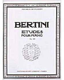 Bertini : 25 Études Op.100...