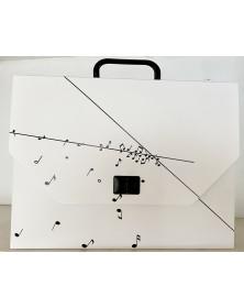 Cartable Notes Blanc