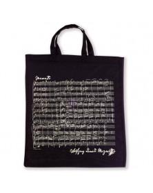 Sac Tissu Noir Mozart