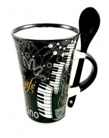 Mug Cappuccino Noir avec...