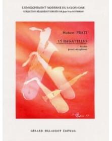 15 Bagatelles, Pour Saxophone