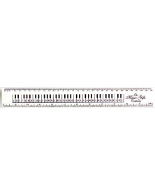 12 Inch Ruler Keyboard White