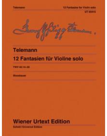 12 Fantasies pour Violin seul