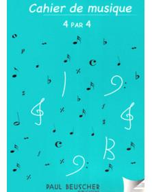 Cahier de musique 4x4...
