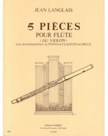 5 Pièces pour Flûte ou Violon