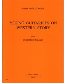 Young guitarists on western...