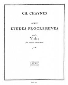 Chaynes : 12 Etudes...