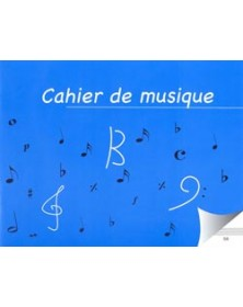 Cahier de musique 8 portées